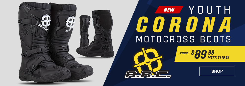 A.R.C. Youth Corona MX Boots