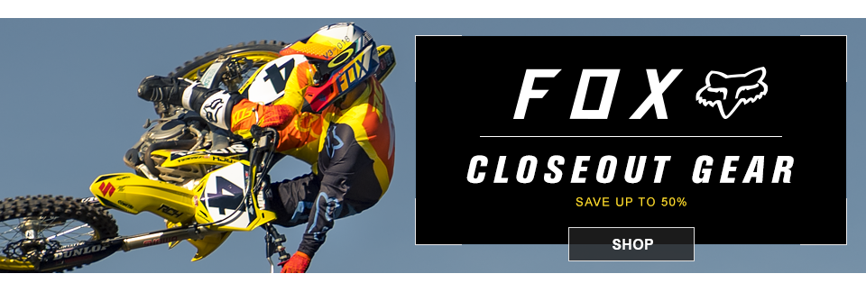 fox closeout mx gear