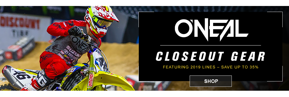 closeout oneal mx gear