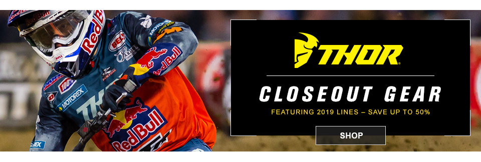 closeout thor mx gear