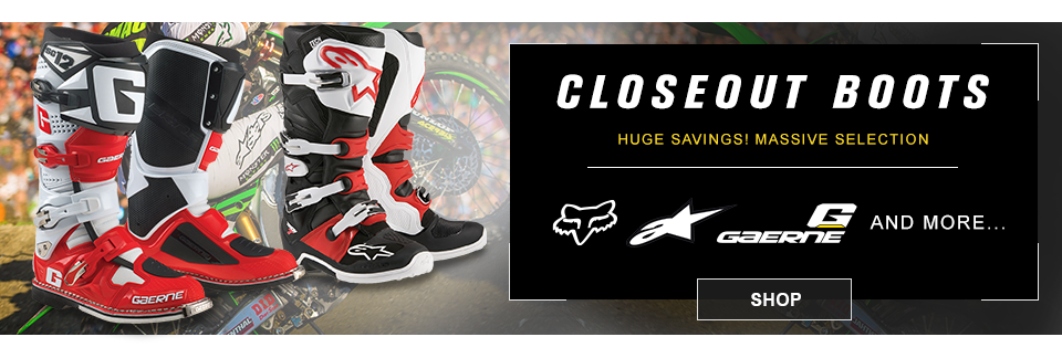 closeout mx boots