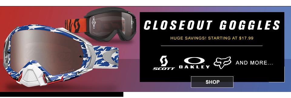 closeout mx goggles