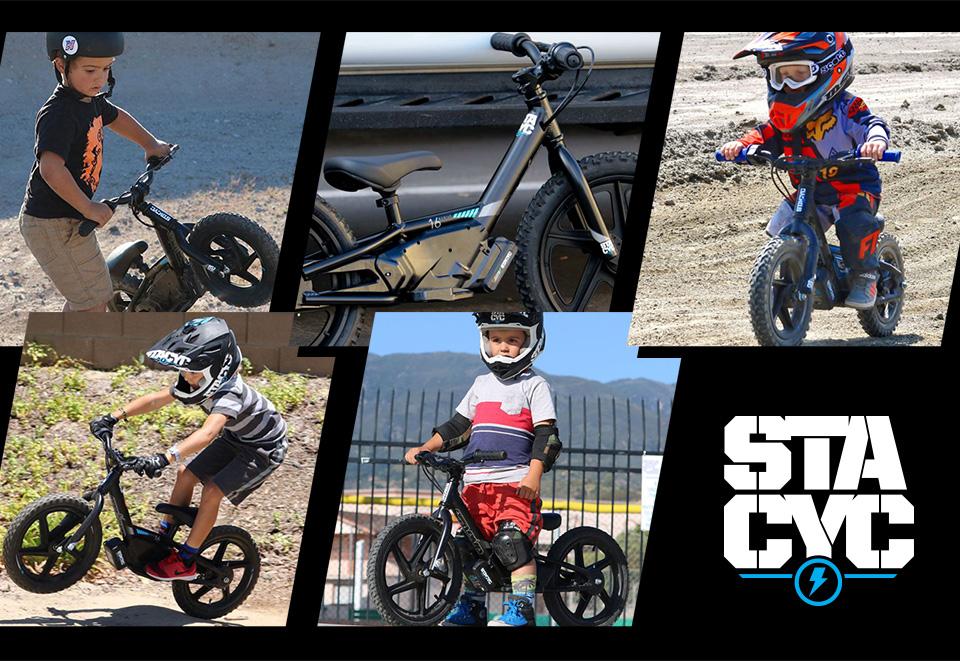 kids on stacyc bikes