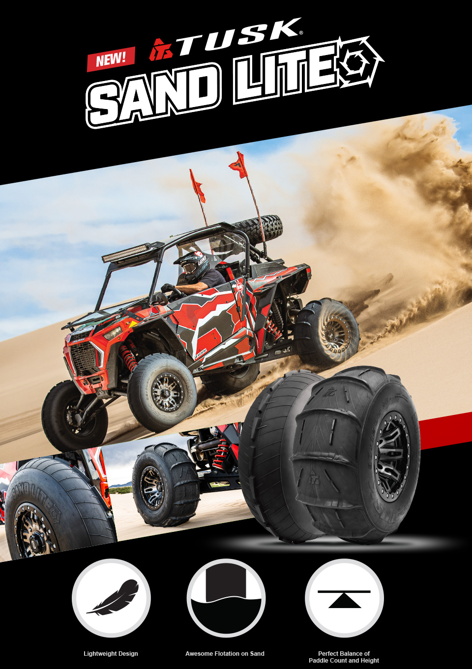 Tusk Sand Lite Tires