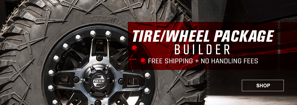 UTV Tire and Wheel Package Builder