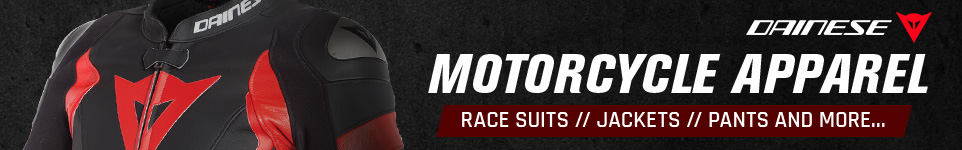 Dainese Motorcycle Apparel - Race Suits // Jackets // Pants and More...