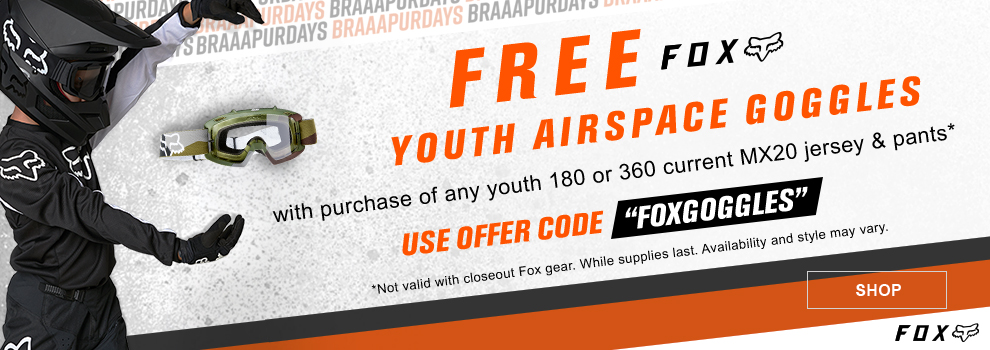Fox Free Youth Goggle Promo