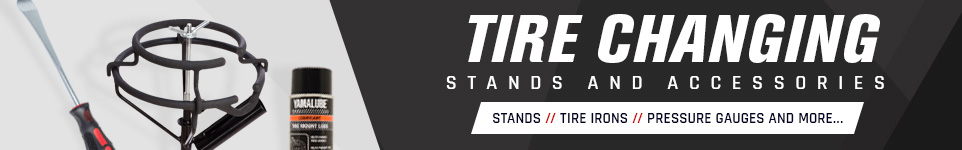 Tire changing stands and accessories