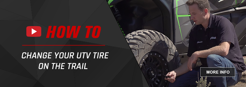 How to change utv tire on trail