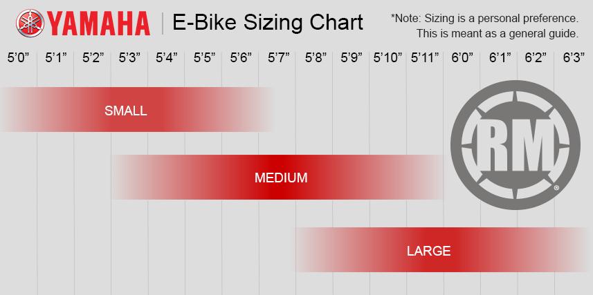 Yamaha eBike Size Chart