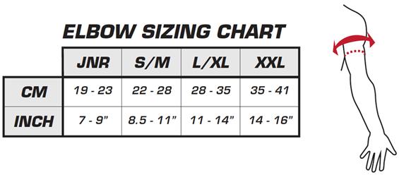Leatt Elbow Sizing Chart