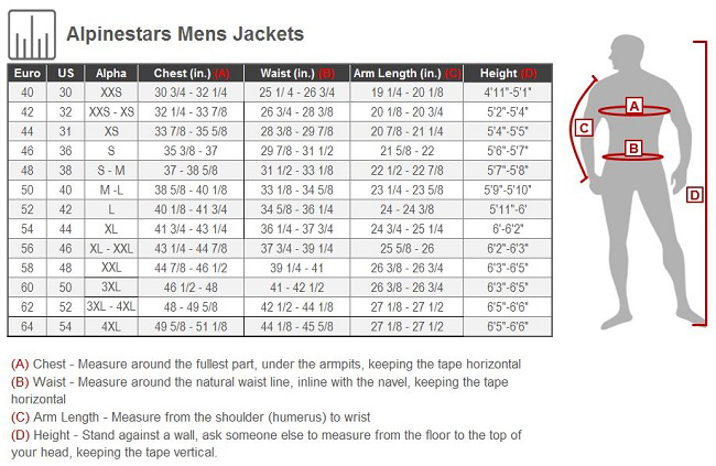 Jacket size chart for men / Jacks frozen pizza