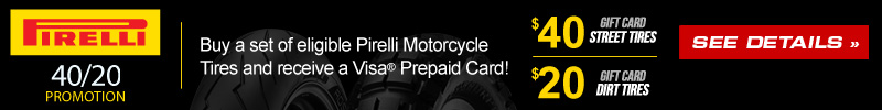 Pirelli Motorcycle Tires 20-40 Offer