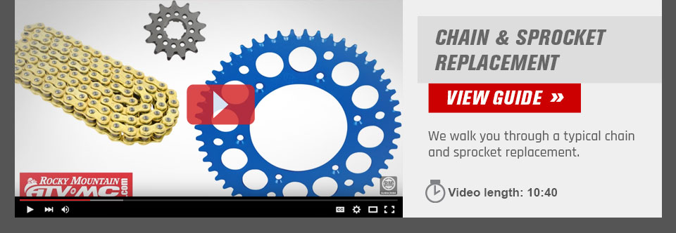Dirt Bike Chain  and Sprocket Replacement